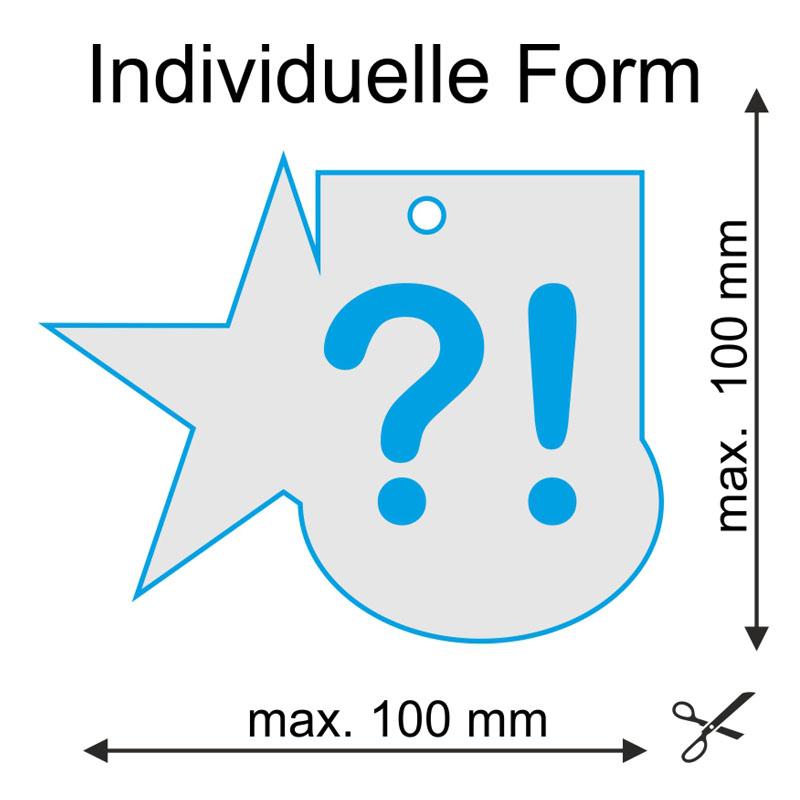 Individuelle Stanzform für NUR +89€